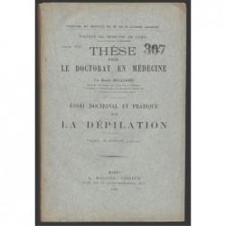 Henri Bulliard : Essai doctrinal et pratique sur la dépilation