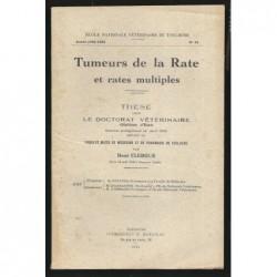 René CLERGUE : Tumeurs de la rate et rates multiples. Envoi de l'auteur.