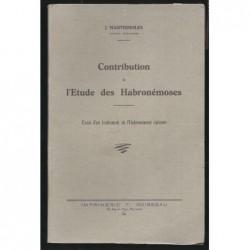 J. MARTIGNOLES  : Contribution à l'étude des Habronémoses.