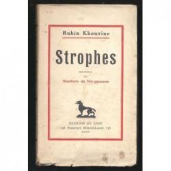 Rubin KHOUVINE : Strophes. Précédées du Manifeste du Néo-parnasse. Edition originale.