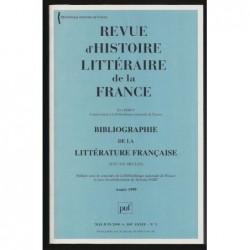 Eric Férey : Revue D'Histoire Littéraire De La France. Bibliographie de la littérature française (XVIe-XXe siècles)