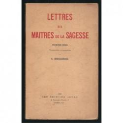C. Jinarajadasa : Lettres des maitres de la sagesse 1881-1888. Première série.