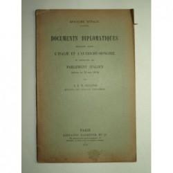 S.E.M. Sonnino : Documents diplomatiques échangés entre l'Italie et l'Autriche-Hongrie et présentés au parlement italien