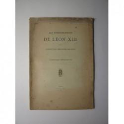 : Les enseignements de Léon XIII sur la constitution chrétienne des états. L'encyclique immortale dei.