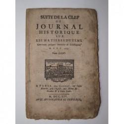 Anonyme : Suite de la clef ou journal historique sur les matières du temps.