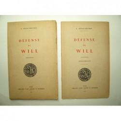 BONAC-MELVRAU. F. : Défense de Will. La véritable identité de William Shakespeare. Complet de son fascicule d'illustrati