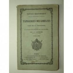 A.L. Lacordaire : Notice historique sur les manufactures impériales de tapisseries des Gobelins et des tapis de la Savon
