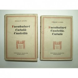 ARTELLS Eduard : Vocabulari Català - Castellà abreujat.  Vocabulari Castellà - Català abreujat. 2 volumes