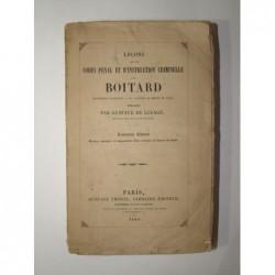 BOITARD Joseph-Edouard : Leçons sur les codes pénal et d'instruction criminelle