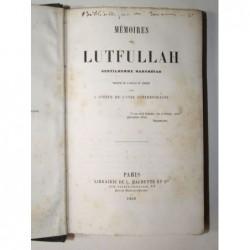 LUTFULLAH Marc  : Mémoires de Lutfullah gentilhomme mahométan