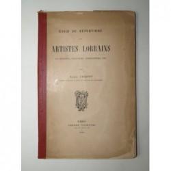 JACQUOT  Albert  : Essai de répertoire des Artistes Lorrains. Les musiciens