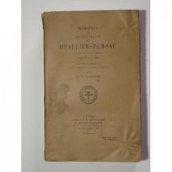 RONCIERE Charles de la : Mémoires de Philippe Prévost de Beaulieu-Persac. Edition originale.