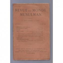 La Mission Scientifique du Maroc : Revue du monde musulman. Tome XXIV.