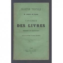 : Collection théâtrale de M. Joseph de FILIPPI. Catalogue des livres imprimés et manuscrits.