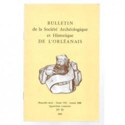 : Bulletin de la Société Archéologique et Historique de l'Orléanais. Nouvelle série. Tome VIII.