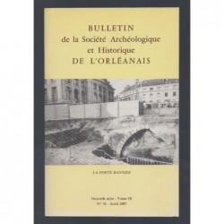 COLLECTIF : Bulletin de la Société Archéologique et Historique de l'Orléanais. Nouvelle série. Tome IX