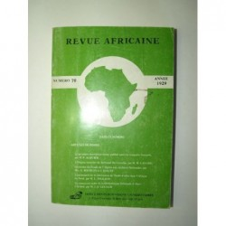Collectif : Revue Africaine publiée par la Société Historique Algérienne. Numéro 70