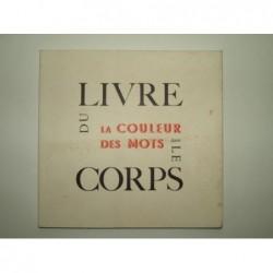 Collectif : Jean-Jacques Sergent typographe. La couleur des mots dans le corps du livre.