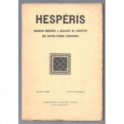: Hespéris. Archives Berbères et bulletin de l'Institut des Hautes-Etudes Marocaines. Tome XXXIV. 3e et 4e trimestres 1