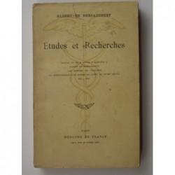 Bersaucourt Albert de : Etudes et recherches.